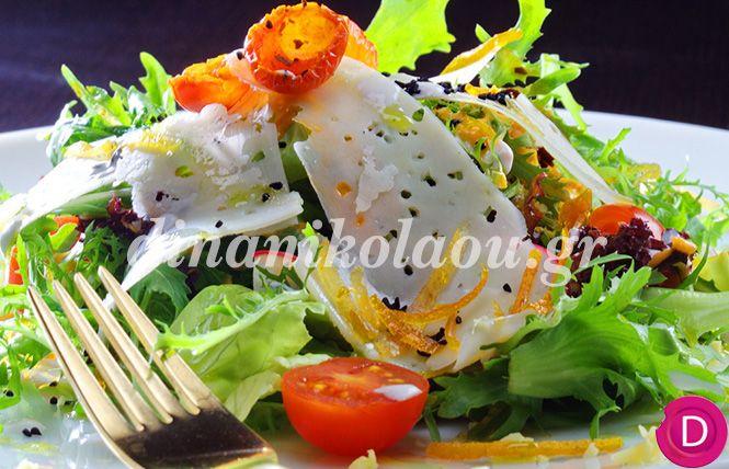 Σαλάτα Όμικρον με τυρί Σαν Μιχάλη | Dina Nikolaou