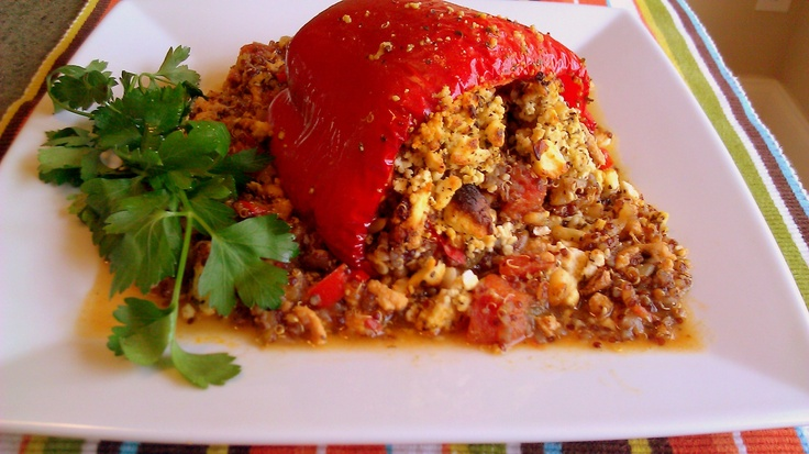 Quinoa stuffed red peppers #recipes Foods For Your Skin - W2W MAGAZINE ...