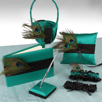 peacock wedding set