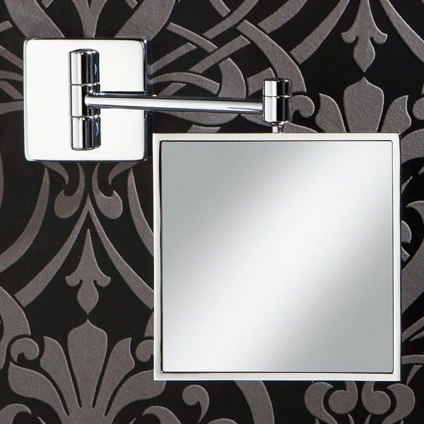 HiB Tori Magnifying Bathroom Mirror 150mm High X Wide