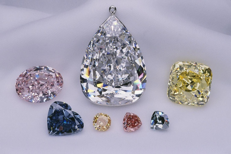 The biggest and most famous diamonds.. the Steinmetz Pink, the Millennium Star, the Heart of Eternity, the Pumpkin Diamond, the Moussaieff Red, the Allnatt Diamond, the Ocean Dream.