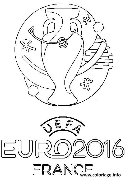 Coloriage Logo Euro 2016 France Football Foot Dessin à Imprimer