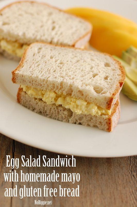 Egg Salad Sandwich with homemade mayo