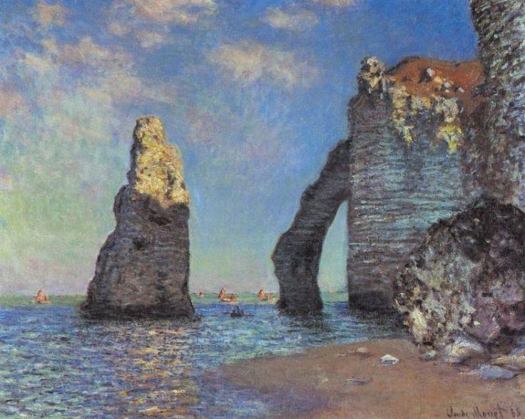 "Claude Monet - ""The Cliffs at Etretat""."