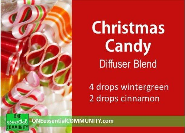 Christmas Candy diffuser blend PLUS 40 more Christmas essential oil diffuser recipes