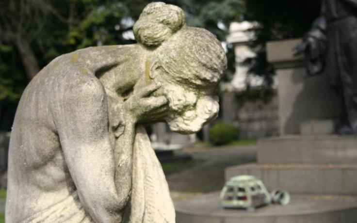 El caracter italiano se refleja en las estatuas del cementerio.