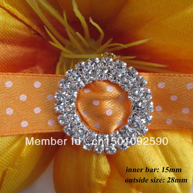 Aliexpress.com : Buy (CM07 15mm innner bar) 50 pcs Double Round Silver Tone Diamante Rhinestone Buckle Chair Sash Ribbon Slider from Reliable rhinestone buckle suppliers on COSMO GARMENT  $29.80