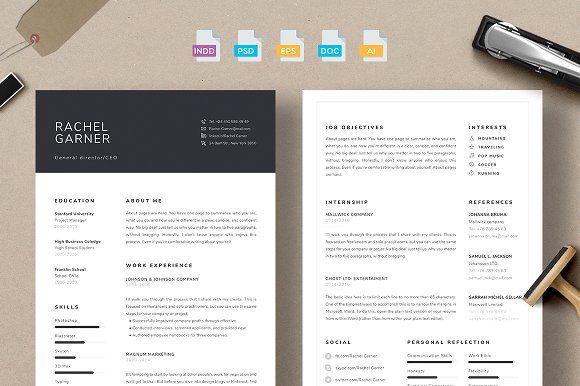 Resume/CV - Garner by 3Angle on @creativemarket