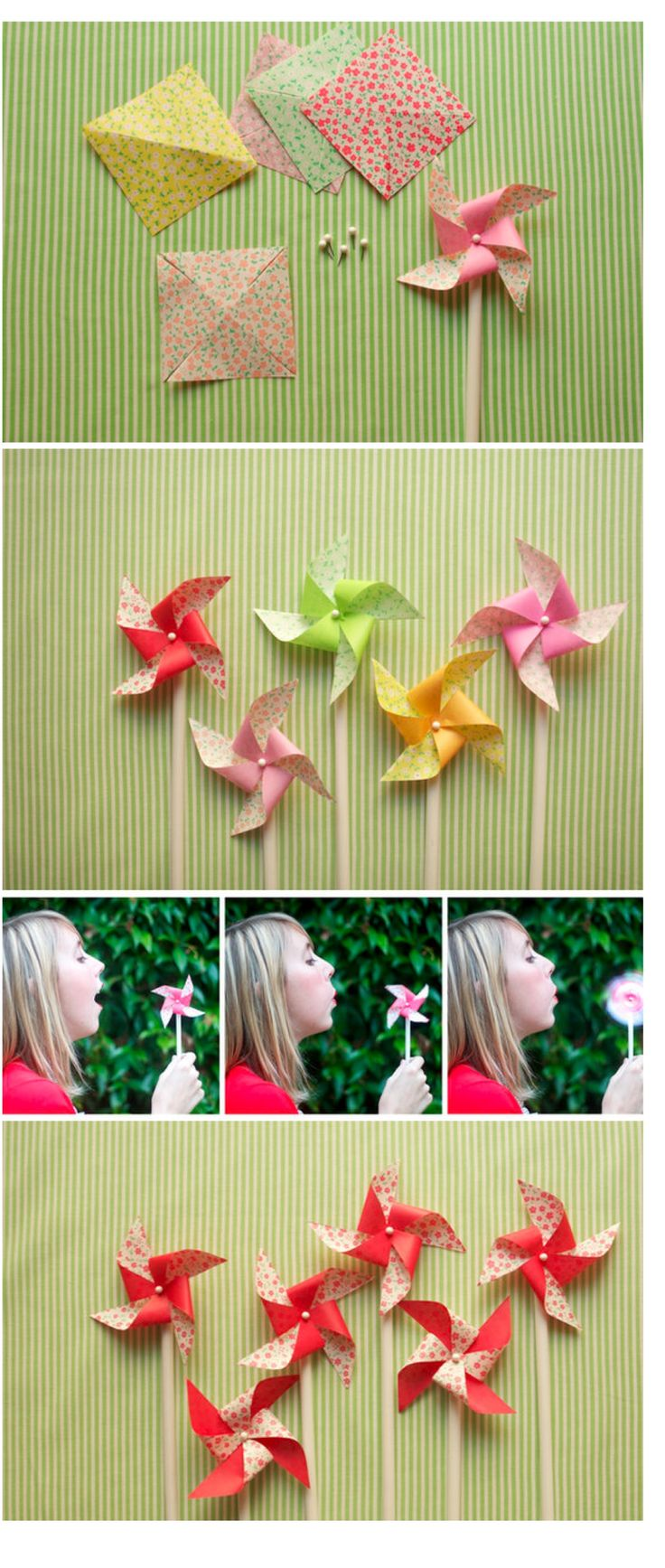 pretty pinwheels - tutorial
