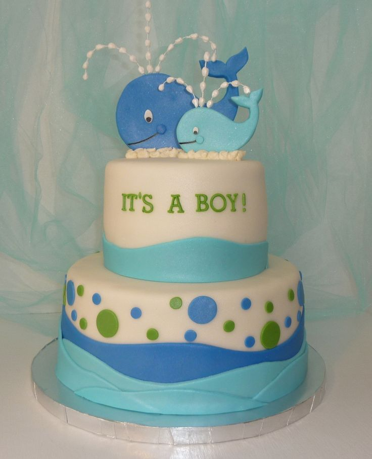 cdc086870e516b0e1596c8b645a79dad--boy-baby-shower-cakes-whale-baby-showers Baby Boy Decorations For Shower