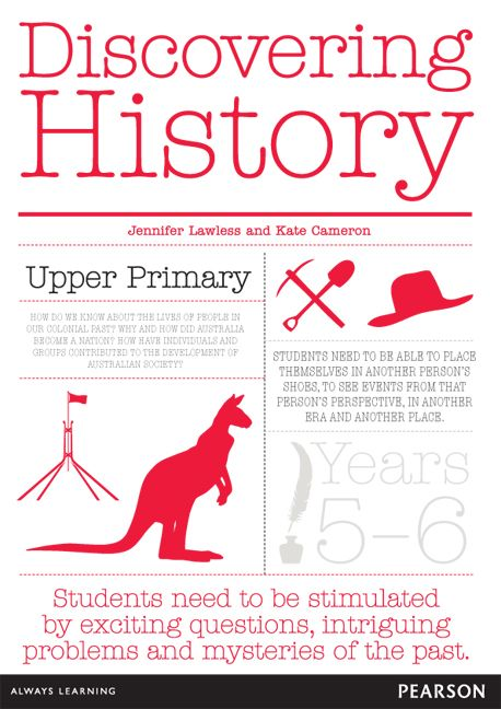 Discovering History Upper Primary Teacher Resource for Years 5-6. Fantastic guide for teaching Australian Curriculum: History. Includes 42 laminated picture/activity cards.