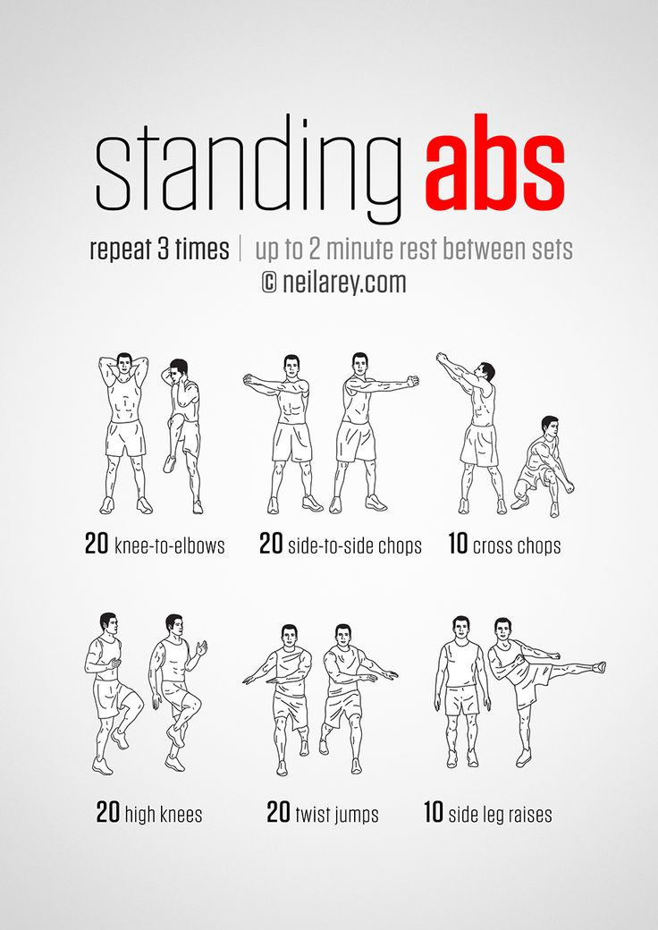Standing Abs Workout - hmmm definitely worth a go! and it's good to do something…