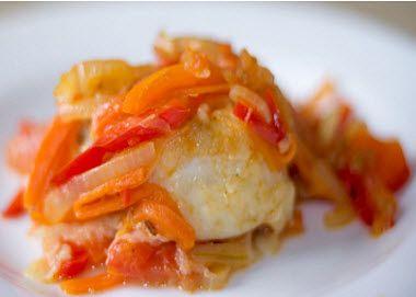 Рыба жареная под маринадом из моркови и лука