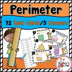 Perimeter Task Cards! Enter for your chance to win 1 of 3. Perimeter Task Cards  (13 pages) from Teachers Take Out on TeachersNotebook.com (Ends on on 04-24-2016) 3 Math Centers to Practice Finding the Perimeter of Shapes.
