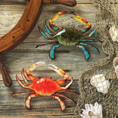 Design Toscano Tropical Crabs Wall Sculpture Set - QL95882