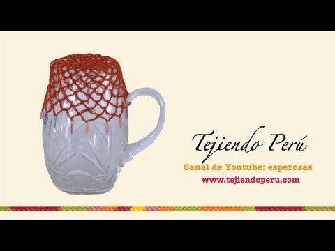 Tapa o cobertor para jarra tejido en crochet - YouTube