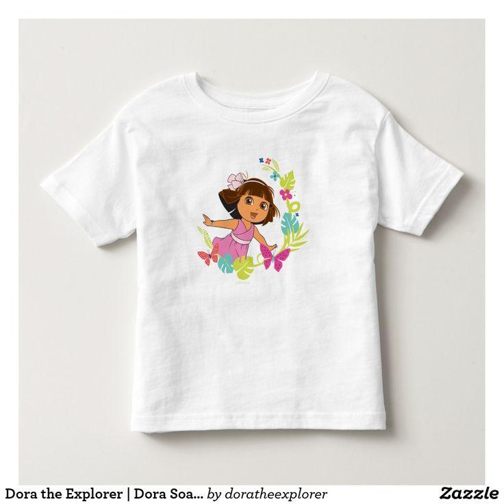 Dora the Explorer   Dora Soaring With Butterflies. T-Shirt. Producto disponible en tienda Zazzle. Vestuario, moda. Product available in Zazzle store. Fashion wardrobe. Regalos, Gifts. Trendy tshirt. #camiseta #tshirt