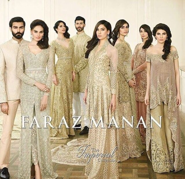 Pakistani couture. Faraz Manan More