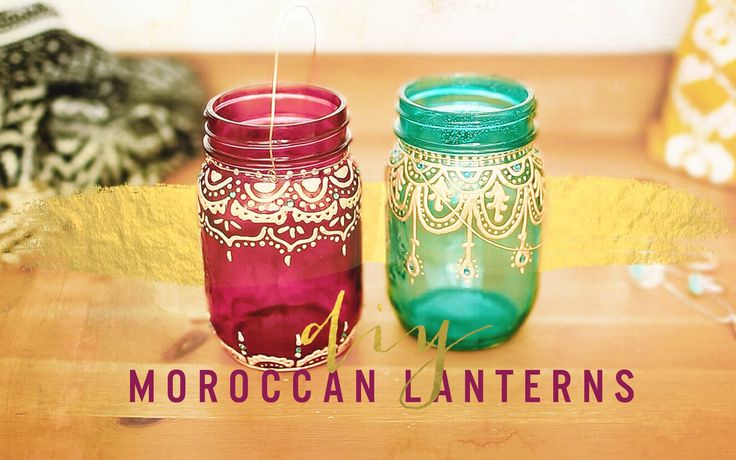 DIY these gorgeous Moroccan inspired painted lanterns! This project is incredibly easy and super affordable. These are the perfect addition to your boho room...