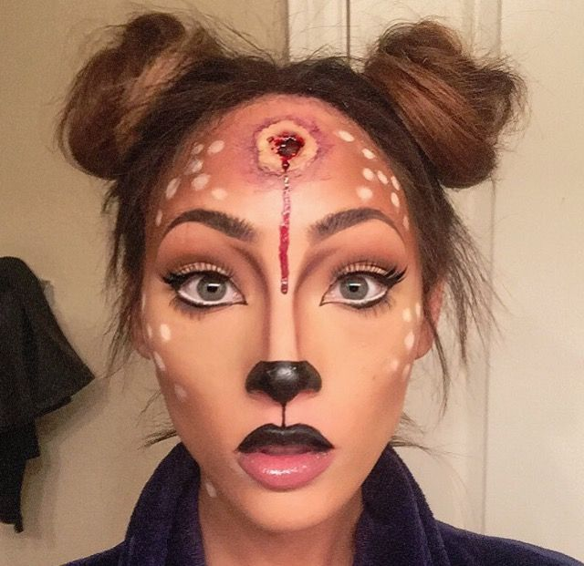 "This make-up look is called ""bambi's mother"""