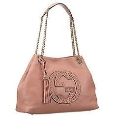 Replica Gucci Soho Studded Shoulder Bag Light Pink | sacoche gucci
