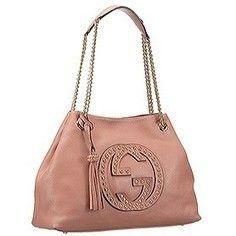 Replica Gucci Soho Studded Shoulder Bag Light Pink | sacoche gucci