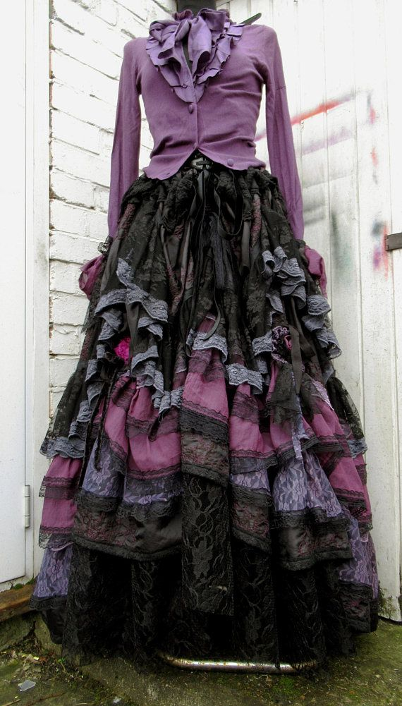 Steampunk long SKIRT Whitby Festival VICTORIAN Cosplay SALOON GOTH Lagenlook