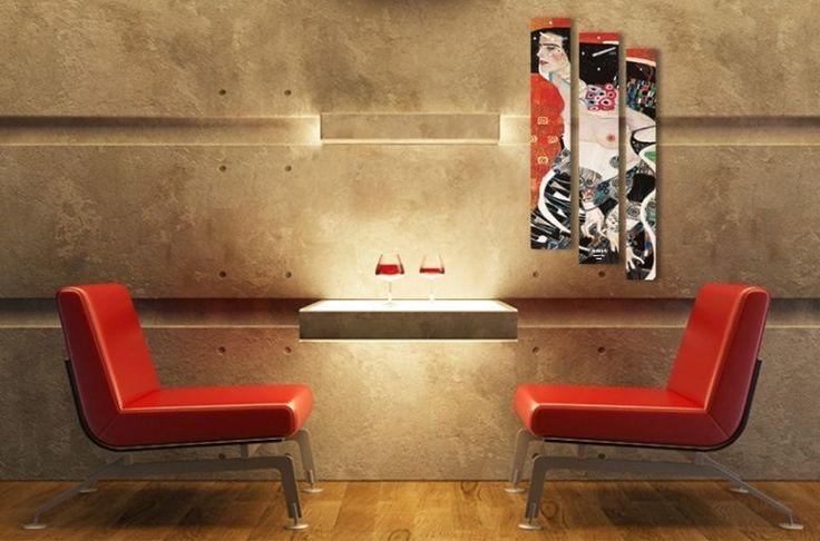 Interior Wall Clock Judith II Home Decor, Modern Luxury 3pcs Framed Wall Art   #LEMONART #ArtDeco
