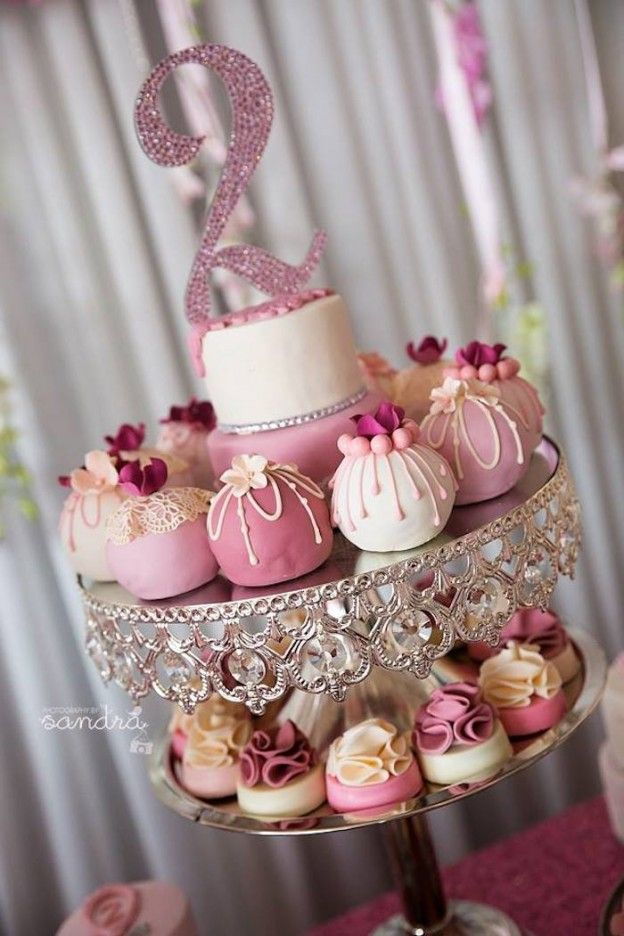 Pink Floral Princess birthday party via Kara's Party Ideas KarasPartyIdeas.com…