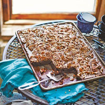January 2016 Recipes: Texas Sheet Cake with Fudge Icing