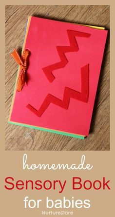 Homemade DIY sensory book for babies - simple to make instructions and a lovely gift.                                                                                                                                                      More