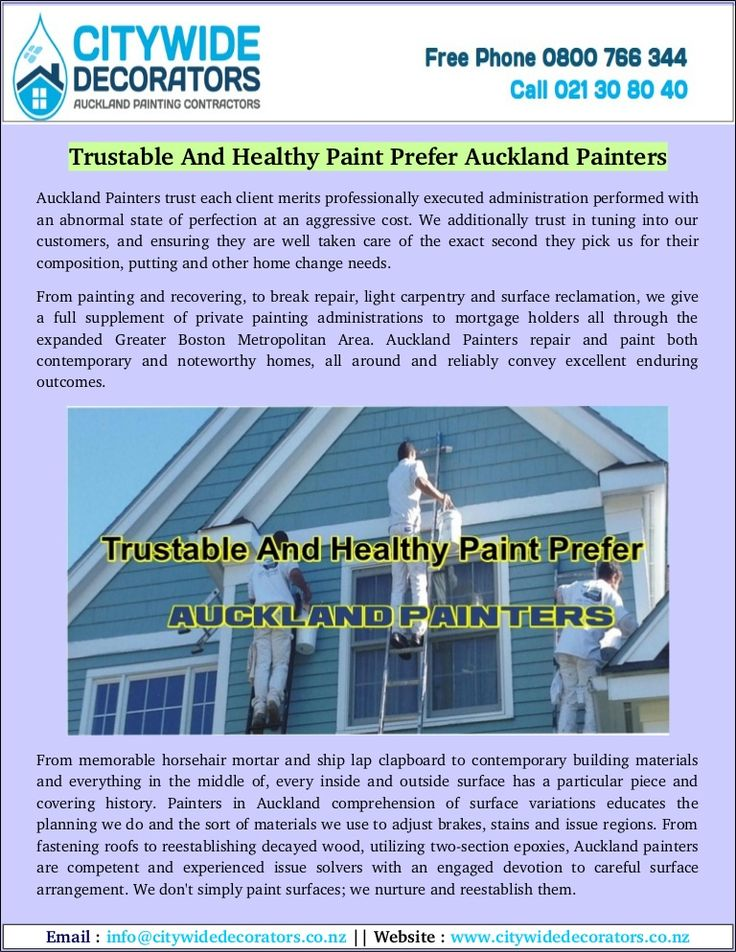 Are you searching for affordable and trusted Auckland painters? City wide Decorators have to highly experienced painters in Auckland. We offer painting services for residential and commercial.