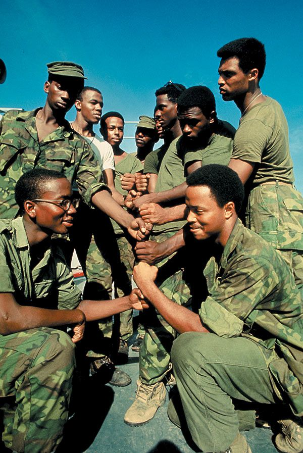 An image from the Soul Soldiers exhibit which is based on the book: Soul Soldiers: African Americans and the Vietnam Era.