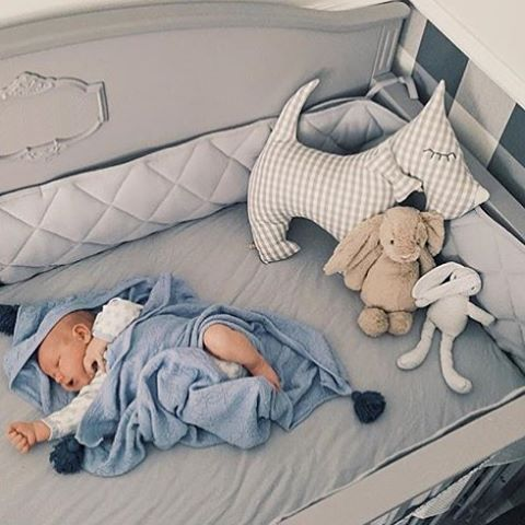 Baby Boy in Funique's Grey Convertible #Victorian #Cot #Bed. So stylish..
