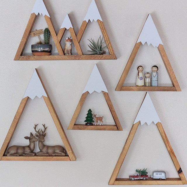 Love these woodland wall art! Would be great decor for a baby nursery or little boys room.