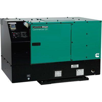 Cummins Onan Quiet Series Commercial Diesel Generator — 12 kW Watts, Model# 12HDKCD-2209