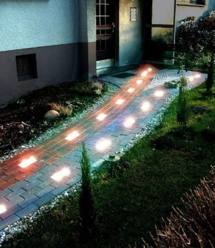 Track with luminous stones