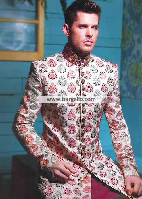 Gorgeous Raw Silk Sherwani Suits Oslo Norway Groom Wedding Sherwani Mens Sherwani 2014