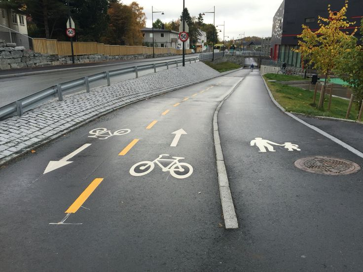 Sykkelveg med fortau, Trondheim