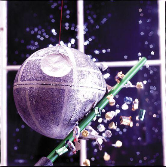 Death Star Pinata · Indie Crafts | CraftGossip.com: Starwars With, Stars Piñata, Stars Pinata, Death Stars, War Pinata, Stars War, Birthday Parties Ideas, Amazing Ideas, Lights Saber
