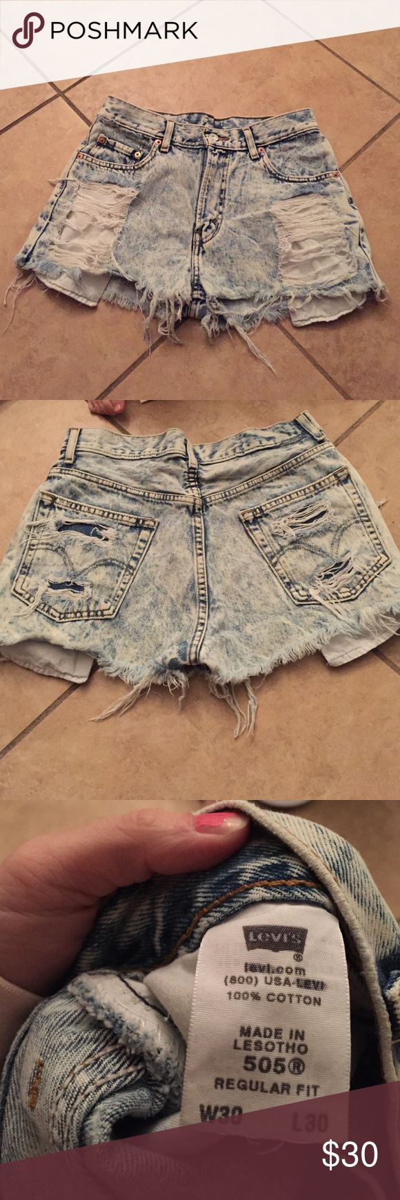 High waisted Levi shorts Cute high waisted vintage Levi shorts only worn a couple times. I loved these shorts!! American Apparel Shorts Jean Shorts