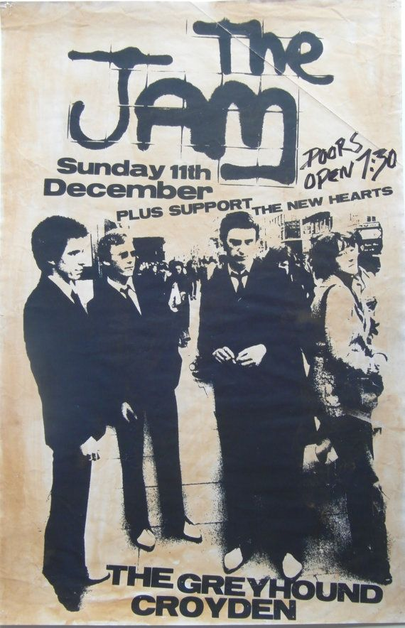 c1970s Rare Original Poster Advertising The Jam at The Greyhound, Croydon.