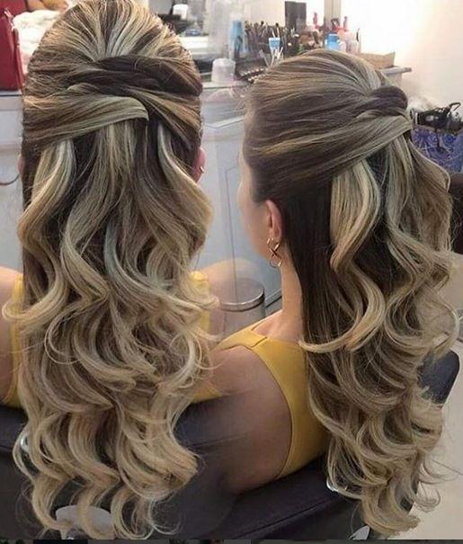 penteado semi preso