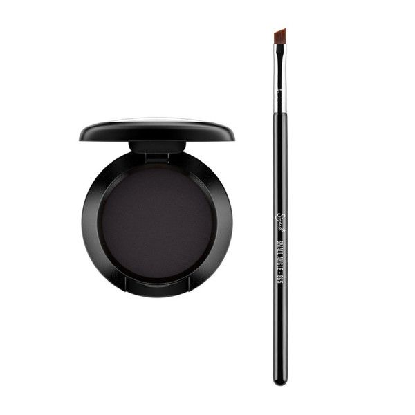 Set It With Eye Shadow - Get that cat eye to stay in place all day when you use an angled eyeliner brush to go over your liner with a black shadow. This will set your liner and make it completely smudge proof.