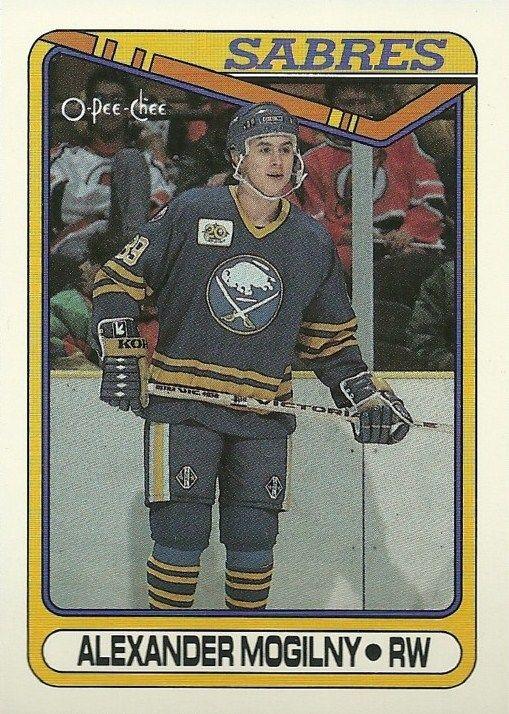 Alexander Mogilny Buffalo Sabres O-Pee-Chee rookie card.
