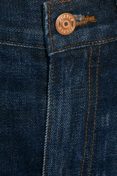 J.Crew - Distressed High-rise Boyfriend Jeans - Indigo - 28