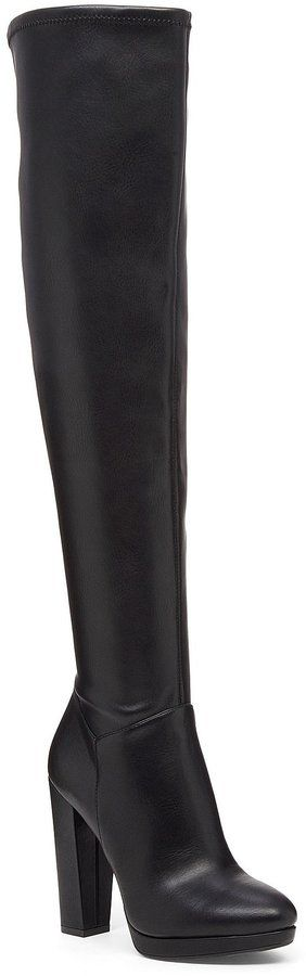 Jessica Simpson Grandie Faux Leather Over the Knee Boots
