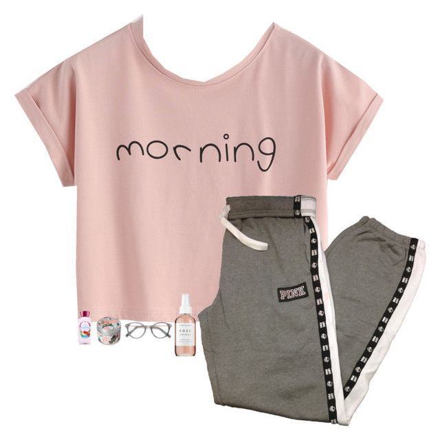 """Good Morning!!!"" by kolbee24 ❤ liked on Polyvore featuring beauty, Victoria's Secret PINK, Herbivore, Ace and vintage"