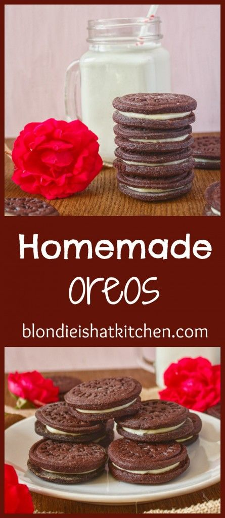 Homemade oreos, cookies with lots of cocoa, milk and cream cheese