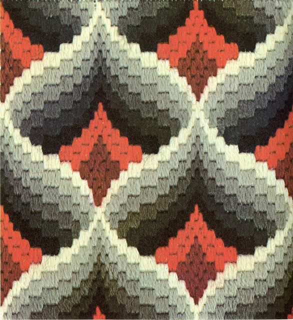 bargello needlepoint - pomegranate variation by gilliflower, via Flickr - so lovely - inspiration
